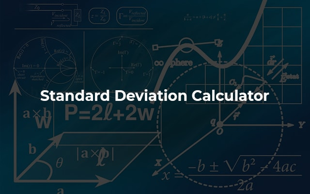 Standard Deviation Calculator with Mean Value & Variance