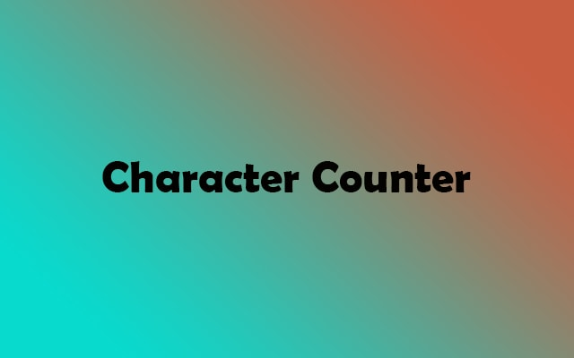 Character Counter Tool Online to Count Characters