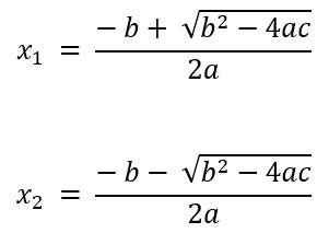 Quadratic equation solver