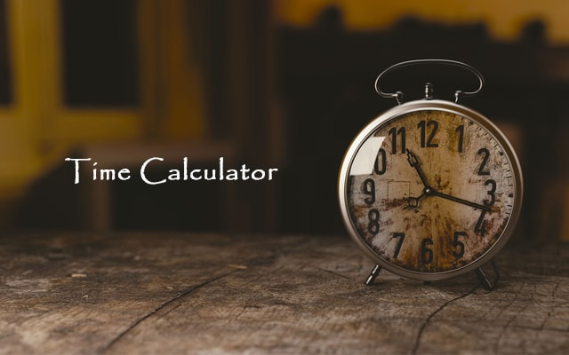 Time Calculator - Add Or Subtract (Difference & Duration)