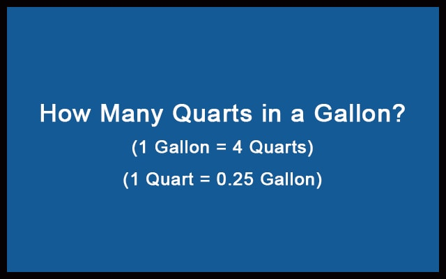 How Many Quarts in a Gallon