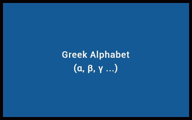 Greek Alphabet - Greek Letters with Symbols