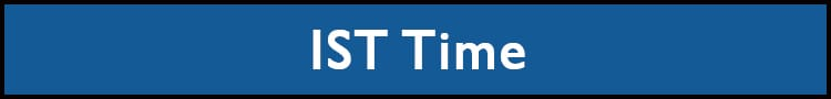 IST Time Now - Indian Standard Time Zone