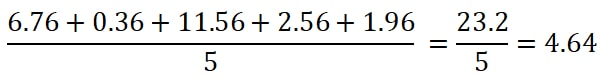 Step 3.1 - divide by the total values