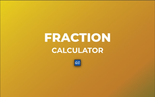 Fraction Calculator - Simple and Mixed