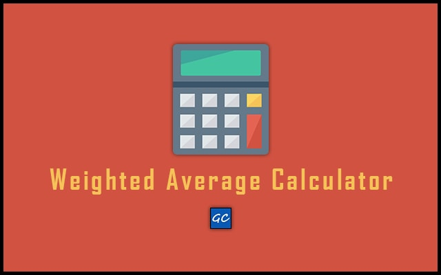 Weighted Average Calculator - Weighted Mean Calculator