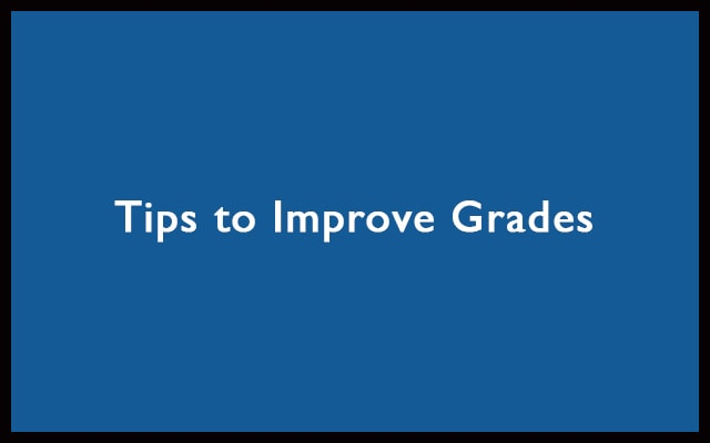 tips to improve grades